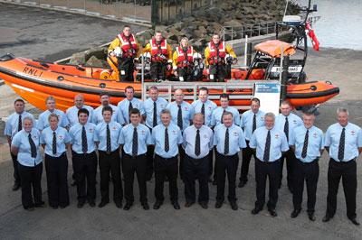 Bangor lifeboat volunteers