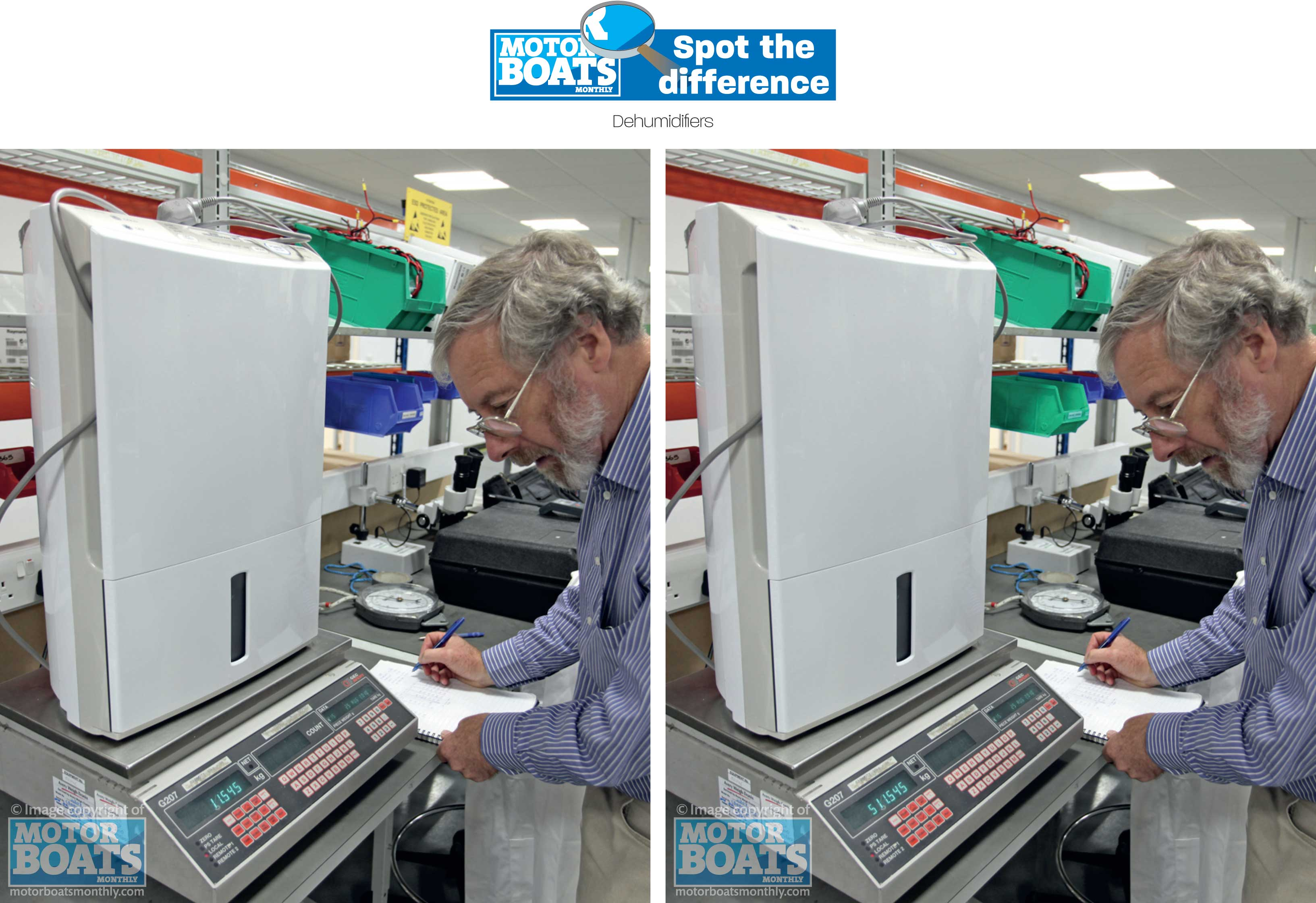 Dehumidifiers - Spot the difference
