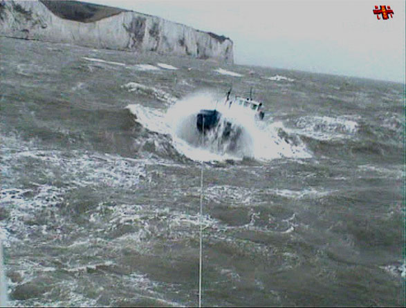 RNLI Dover barge rescue