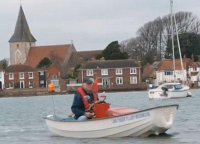 John Hinton's Lawnmower boat