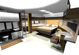 Fairline Squadron 50 master cabin