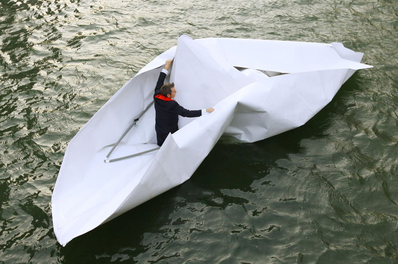 Frank Bolter's paper boat