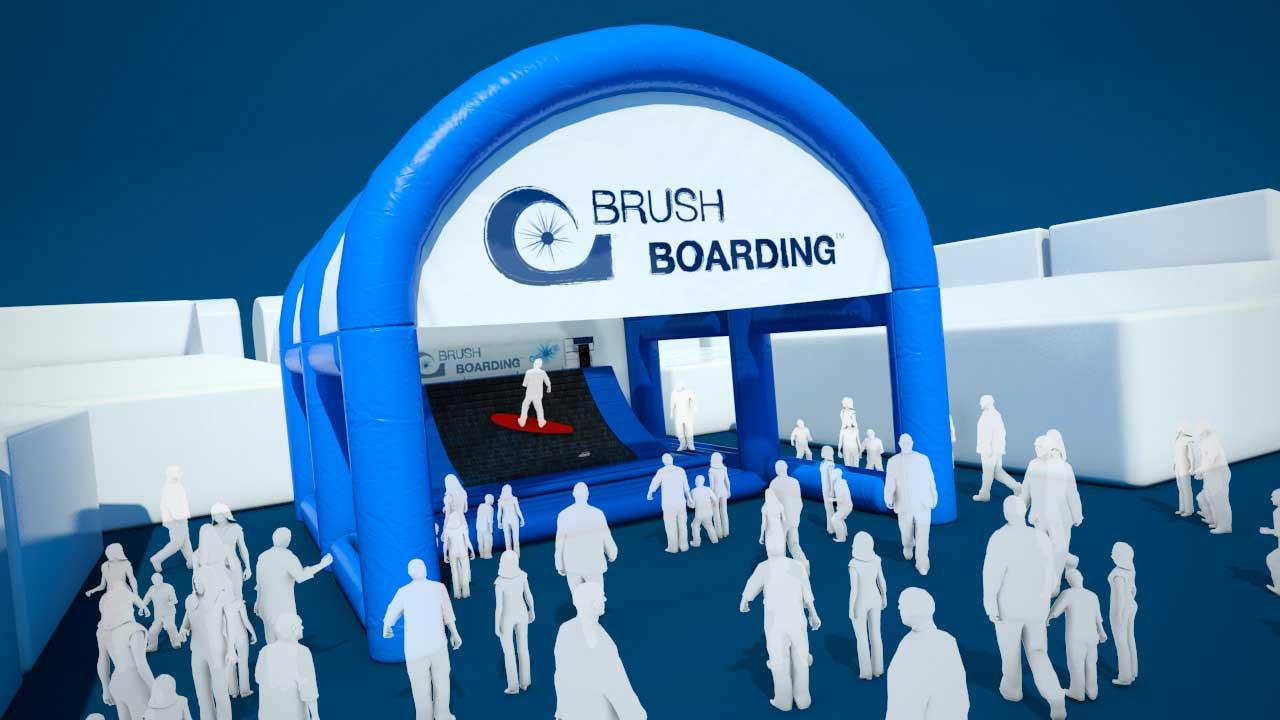 London boat show 2011 - Brush boarding