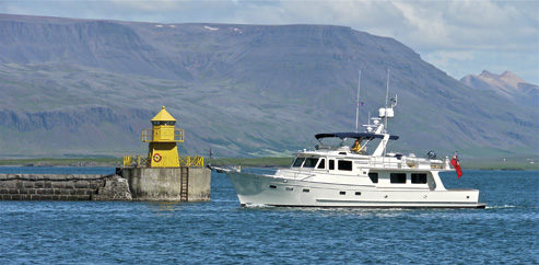 Venture II enters Reykjavic harbour