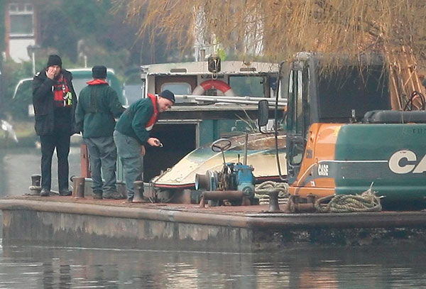 Recovered boat from Shepperton boat tragedy