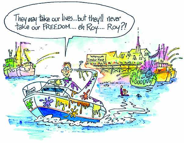 Cartoon Outboard Motors : Confession fairline owner drives into the firing line