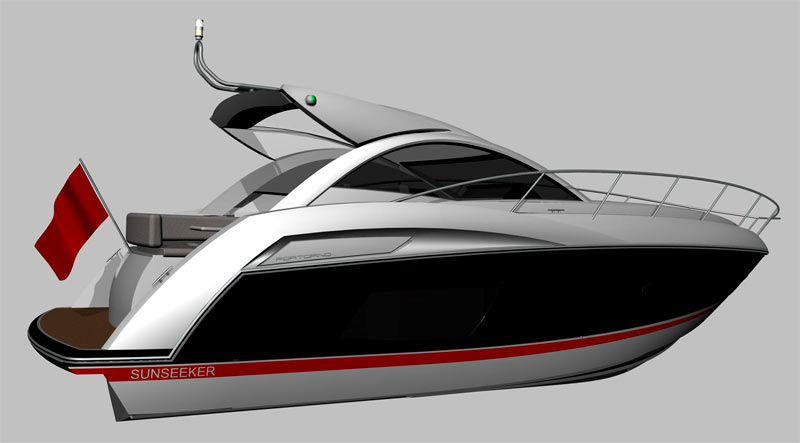Sunseeker Portofino 38 black hull2