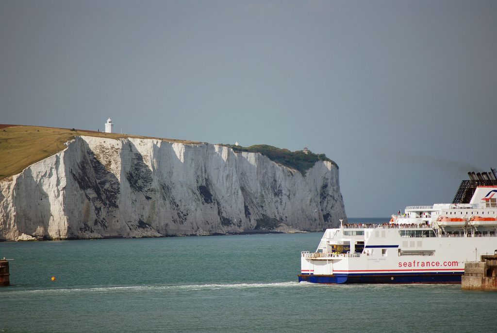Ferry leaving Dover