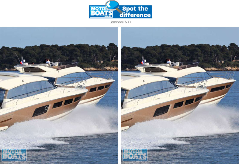 Jeanneau 500 spot the difference | Motor Boats Monthly