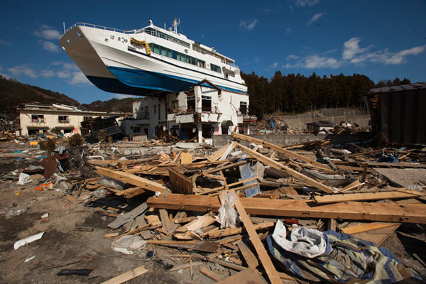 Hamayuri catamaran, Japan tsunami