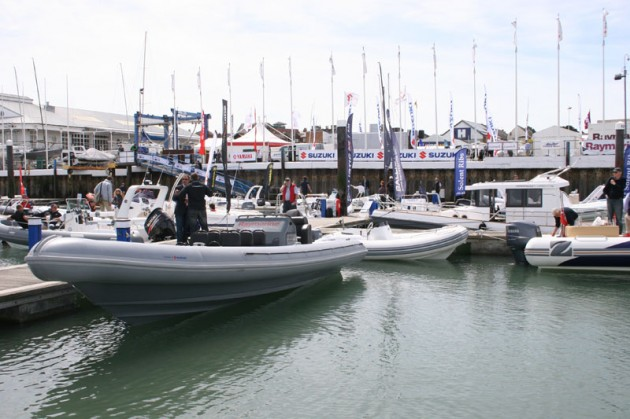 The busy pontoons   RIBEX 2011   Motor Boats Monthly