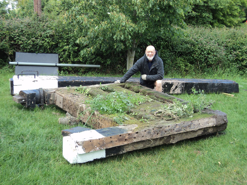 Michael Eavis and his new lock gates | Motor Boats Monthly