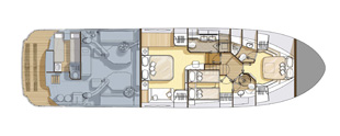 Monte Carlo Yachts 65 lower deck layout