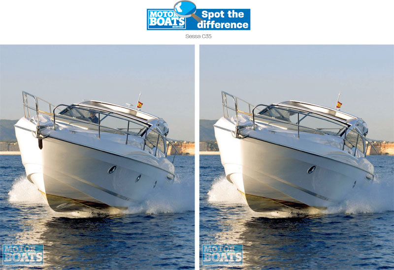 Sessa C35 | Spot The Difference | Motor Boats Monthly