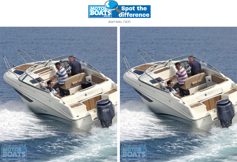 Jeanneau 7.5 DC | Spot The Difference | Motor Boats Monthly