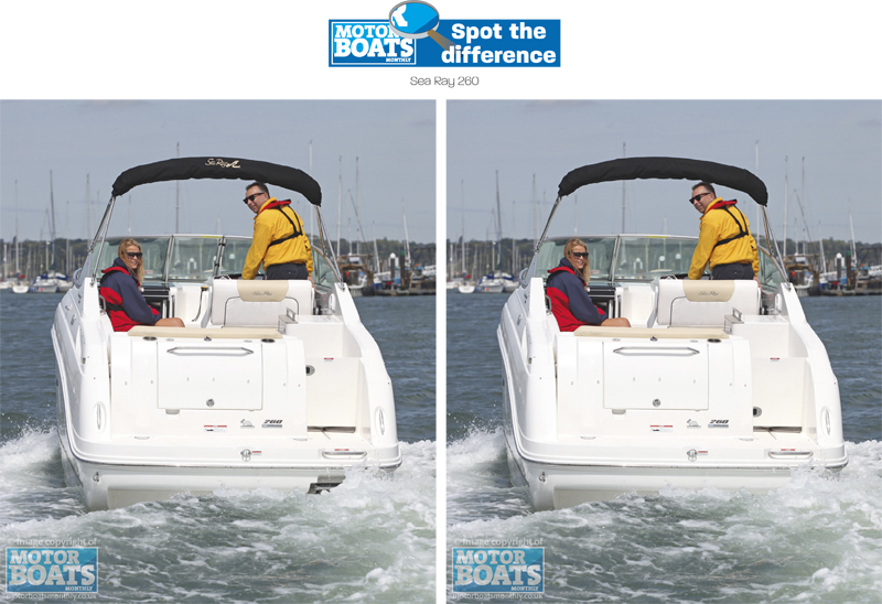 SeaRay 260 | Spot The Difference | Motor Boats Monthly