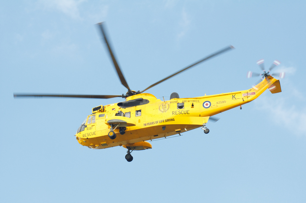 RAF Vally SeaKing search and rescue