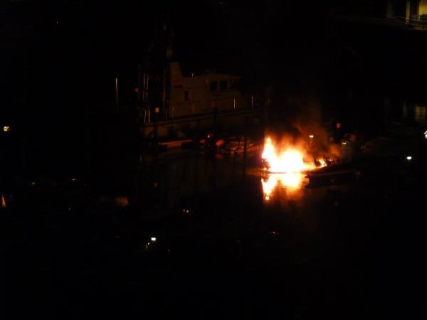 Rib on fire