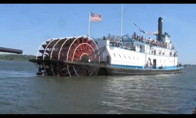 Tables Turned As Pirate Ship Is Attacked By Paddle Steamer