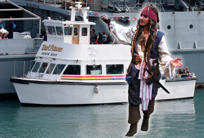 Dart Princess and Jack Sparrow