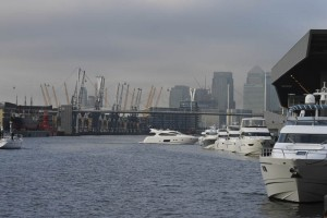 Princess and Sunseeker yachts line up