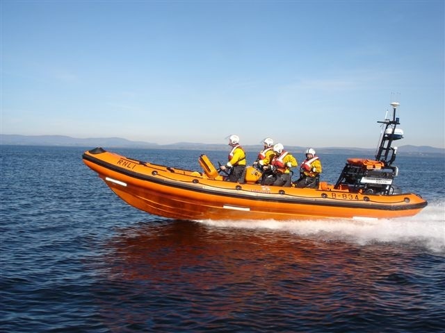 RNLI rescue jetski men
