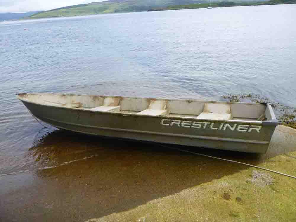 Bullet-ridden boat
