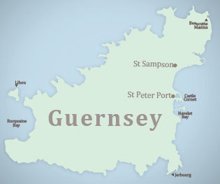 Guernsey map