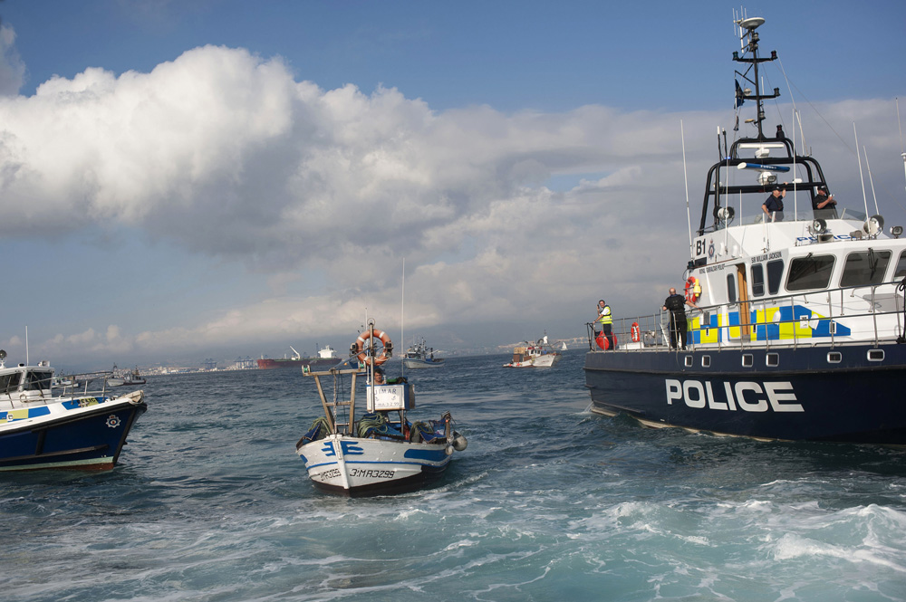 Gibraltar fishing boats spainish