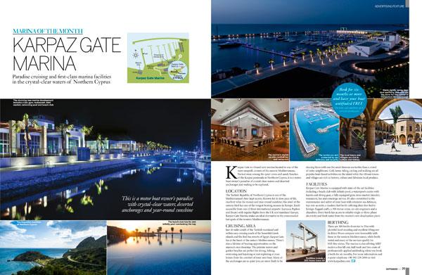 Motor Boat & Yachting | Karpaz Gate