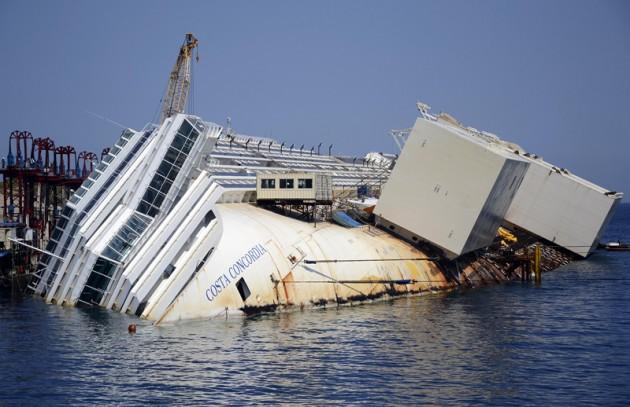 Costa concordia sinks