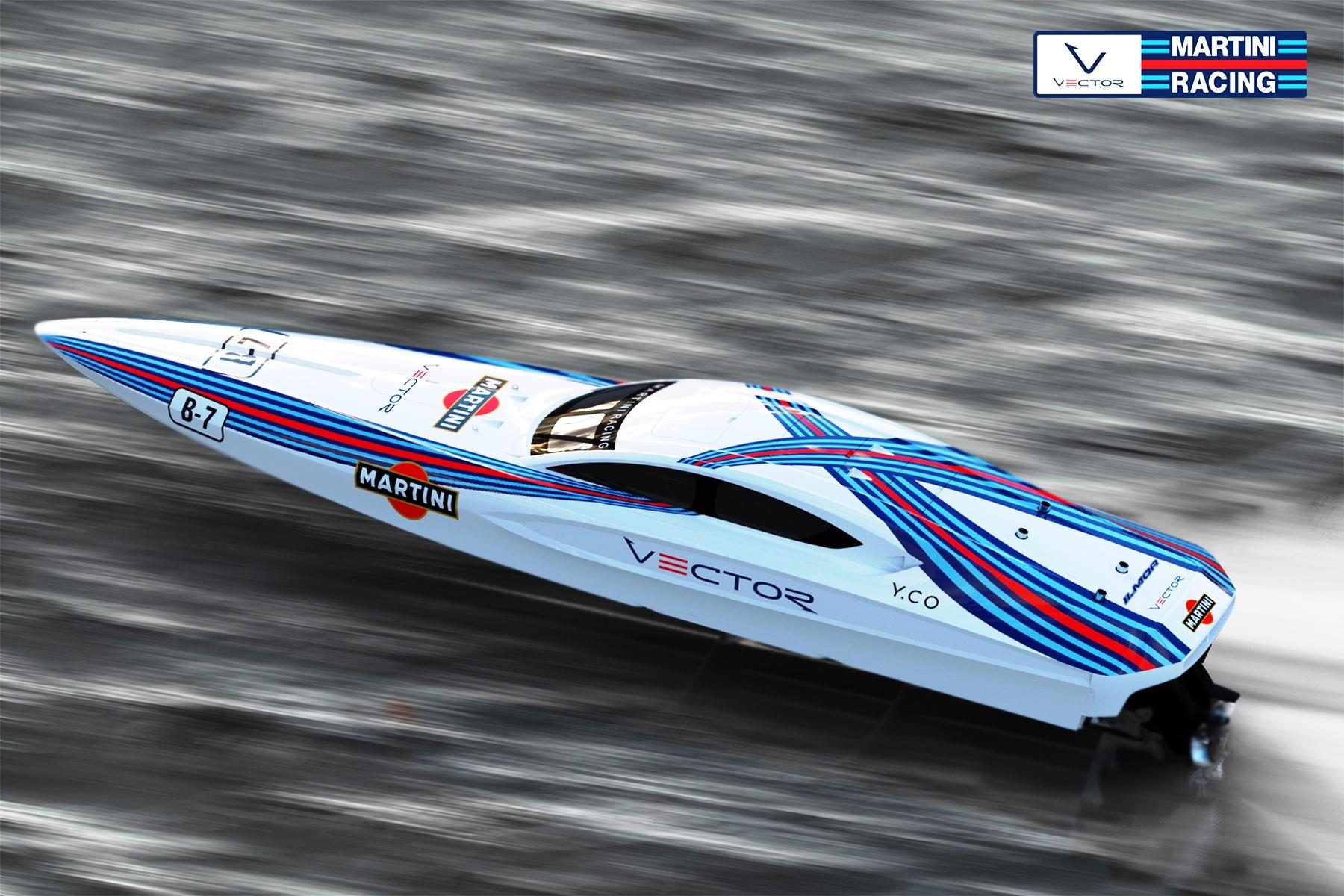 Vector Martini Racing Boat