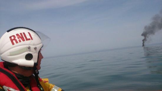 Aberystwyth boat fire RNLI
