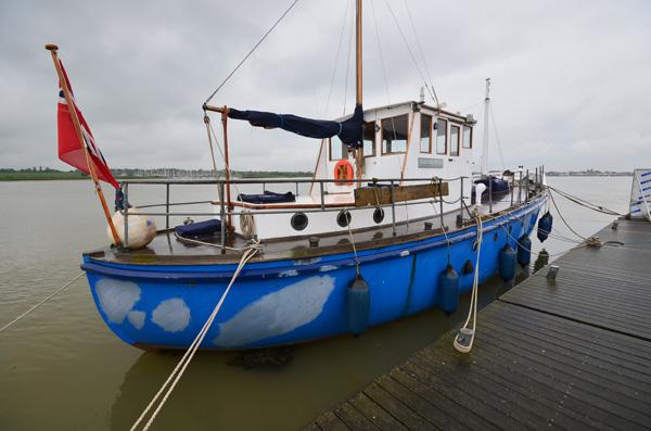 "Sir Paul McCartney's boat, ""Barnaby Rudge"""