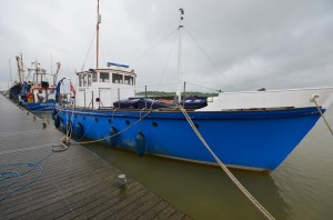 "Sir Paul McCartney's boat, ""Barnaby Rudge"""