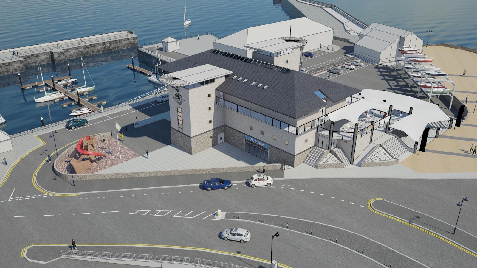 Porthcawl marina CGI render