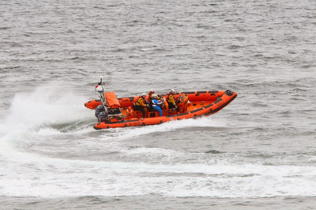 Queens Baton Relay lifeboat