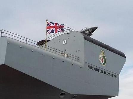 HMS Queen Elizabeth warship - stern