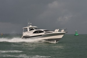 A side view shot of the new Broom 430 crossing the English Channel