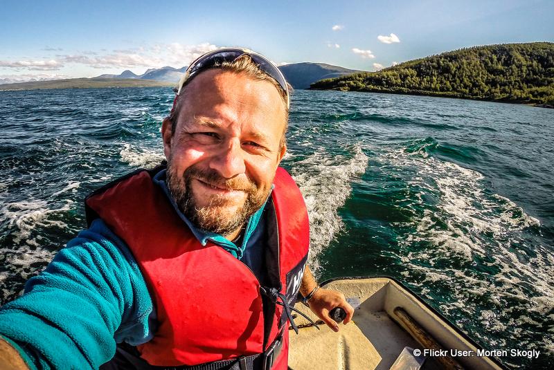 Boat selfie