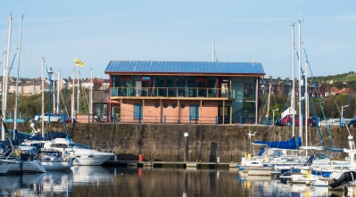 Whitehaven Marina Office from Lowther Marina