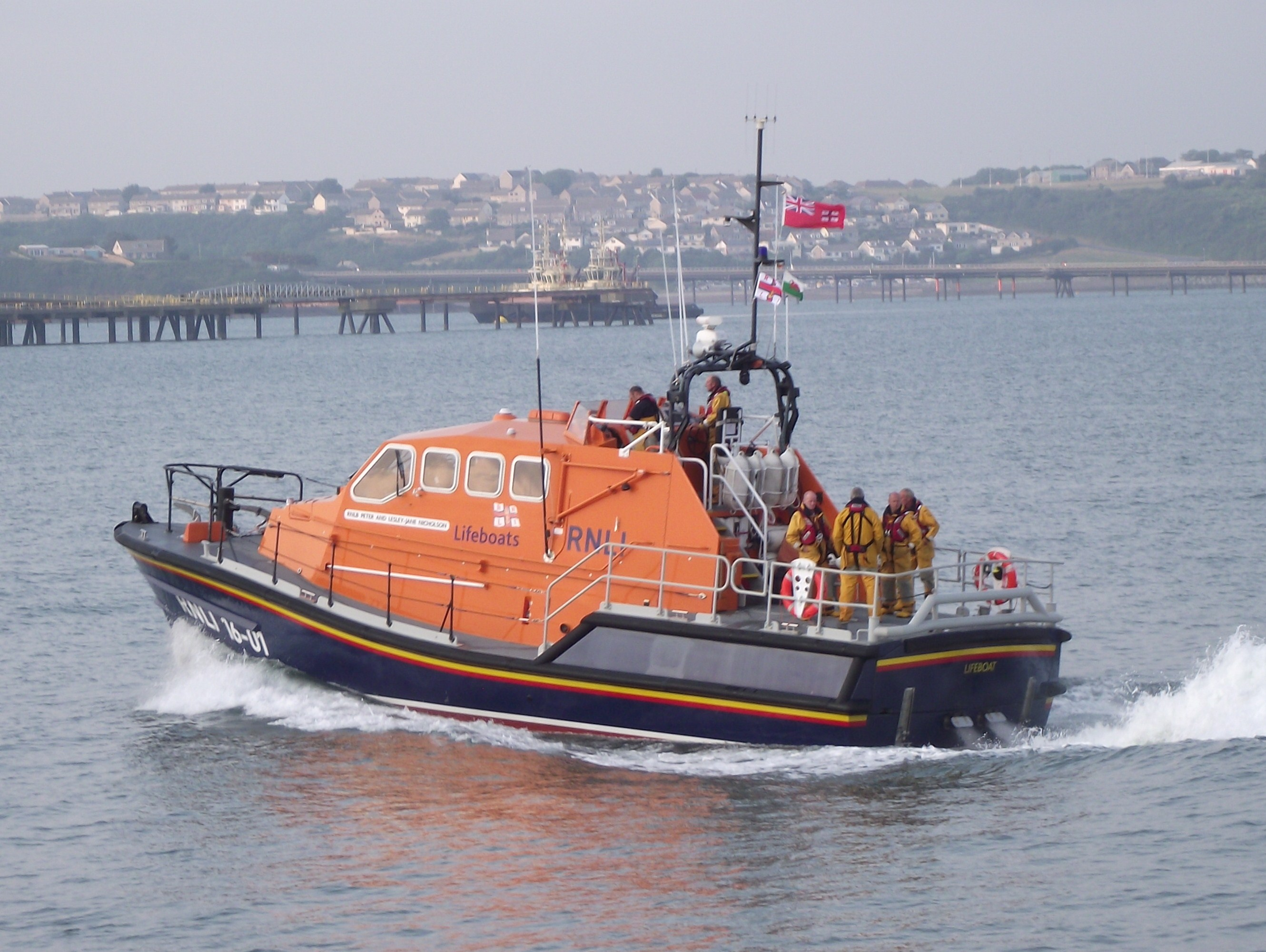 RNLI Angle relief lifeboat Peter and Lesley-Jane Nicholson