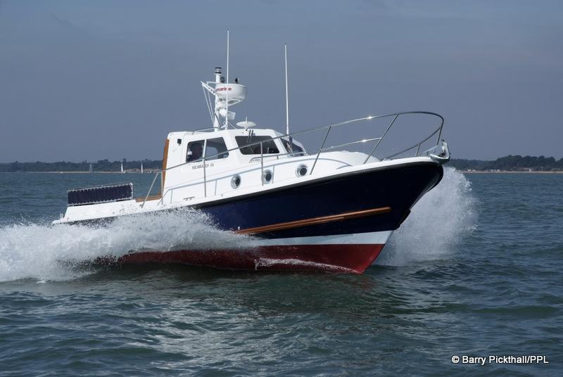 Seaward 25 running shot