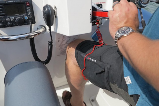 killcord on powerboat - check for signs of killcord failure