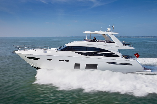 Princess 68 takes to the water for sea trial review Princess 68 motor yacht