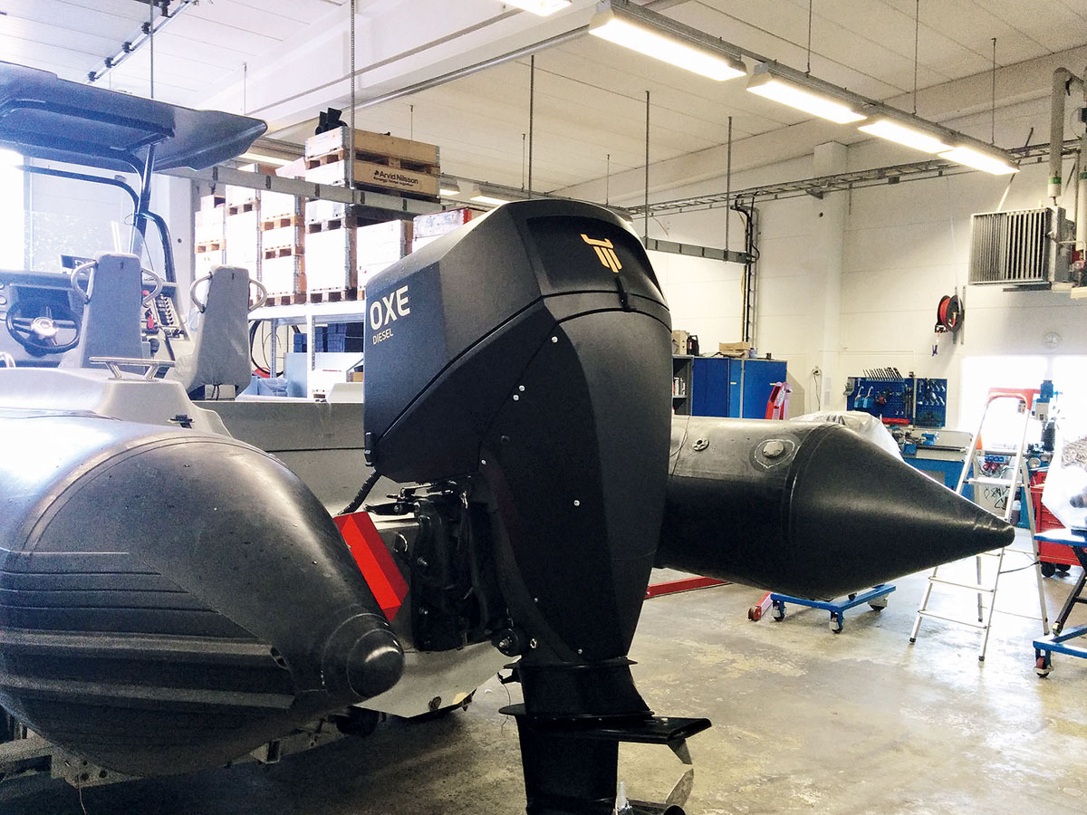 New 200hp diesel outboard from Oxe Diesel