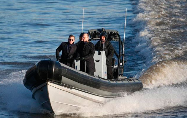 James Bond boat Spectre filming