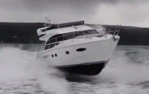 Princess 43 sea trial video