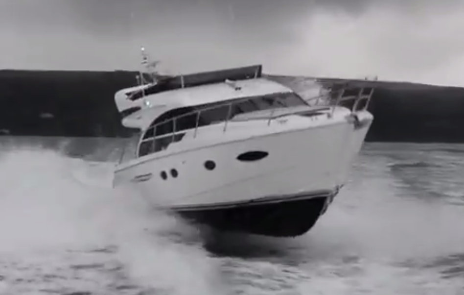 Princess 43 sea trial video