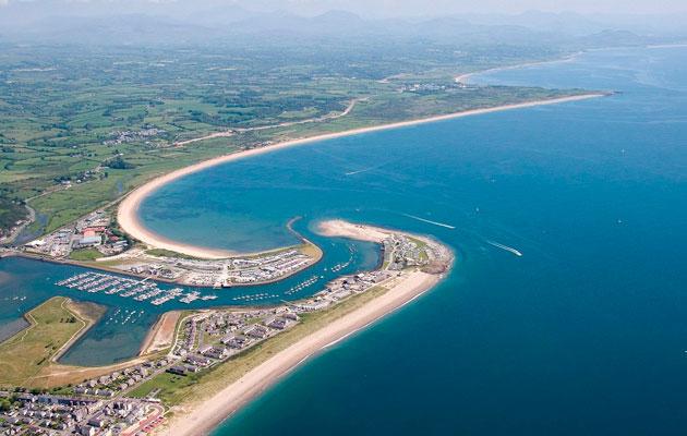 Pwllheli All Wales Boat Show aerial shot